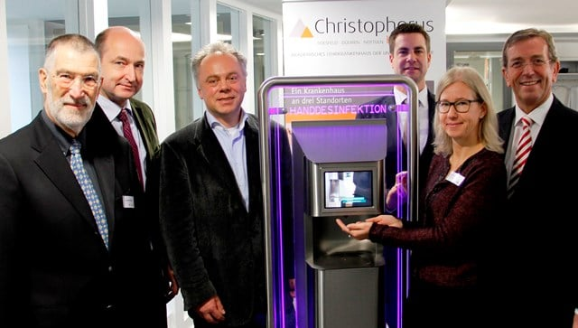 Christophorus-Kliniken Förderverein Spende Sparkasse Automatische Handdesinfektionsgeräte