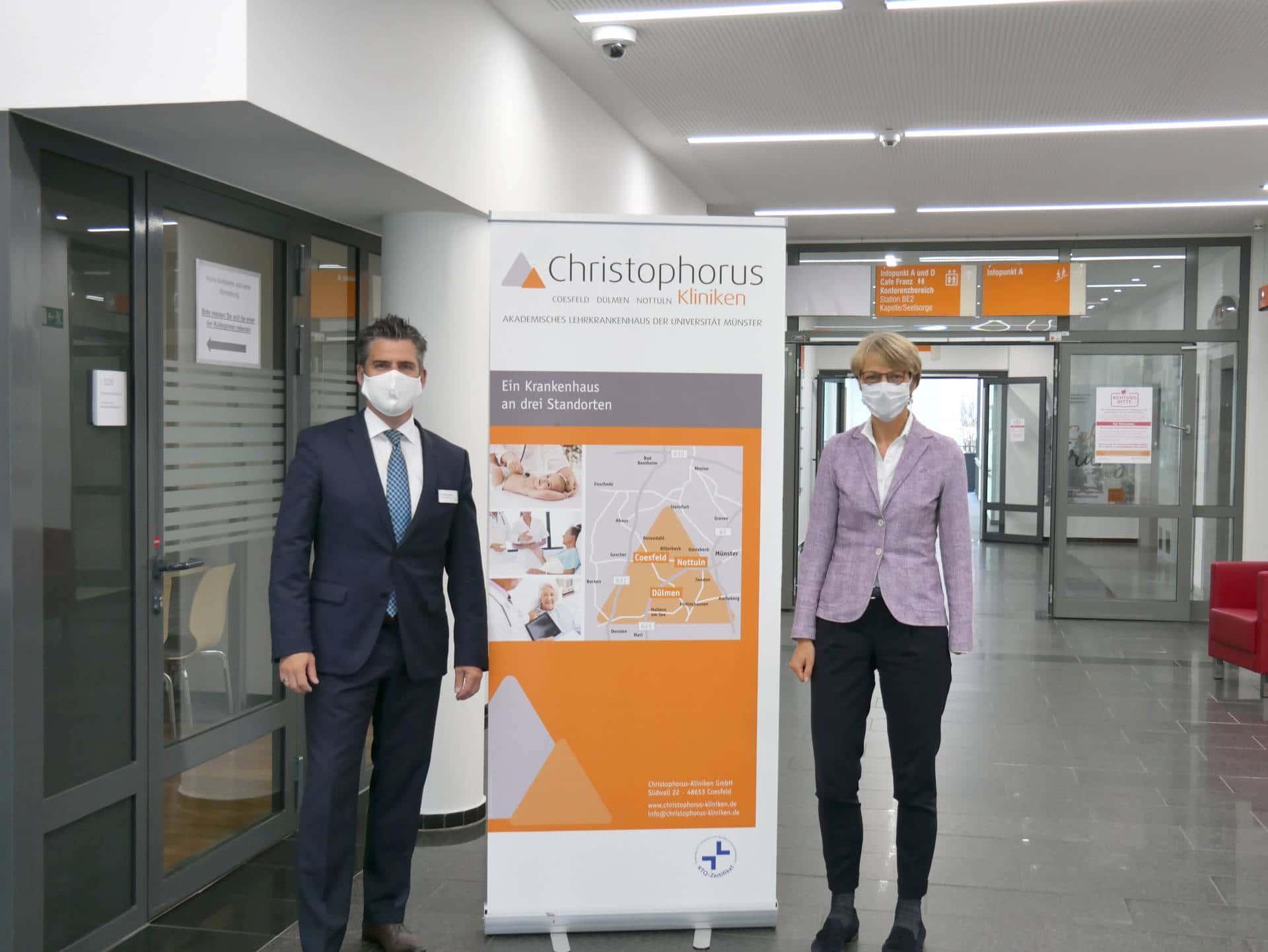 Christophorus Kliniken Duelmen Regierungspraesidentin Feller zu Besuch