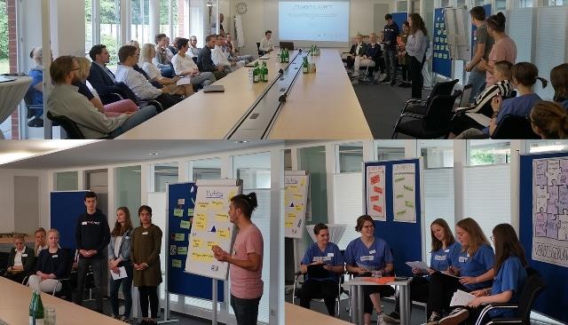 Christophorus-Kliniken Projekt Zukunft VHS Schueler entwickeln Ideen fuer Mitarbeiter-App