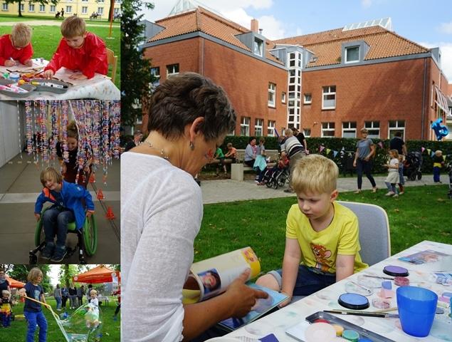 Christophorus-Kliniken Sozialpädiatrisches Zentrum 15-jaehriges Bestehen Feier mit Angebot fuer Fachpublikum und buntem Nachmittag fuer alle