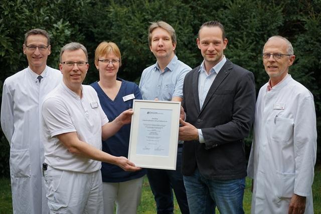 Christophorus-Kliniken Auszeichnung als Interdiszipinäres DEGUM-Ultraschallzentrum als 2. Klinik Deutschlands