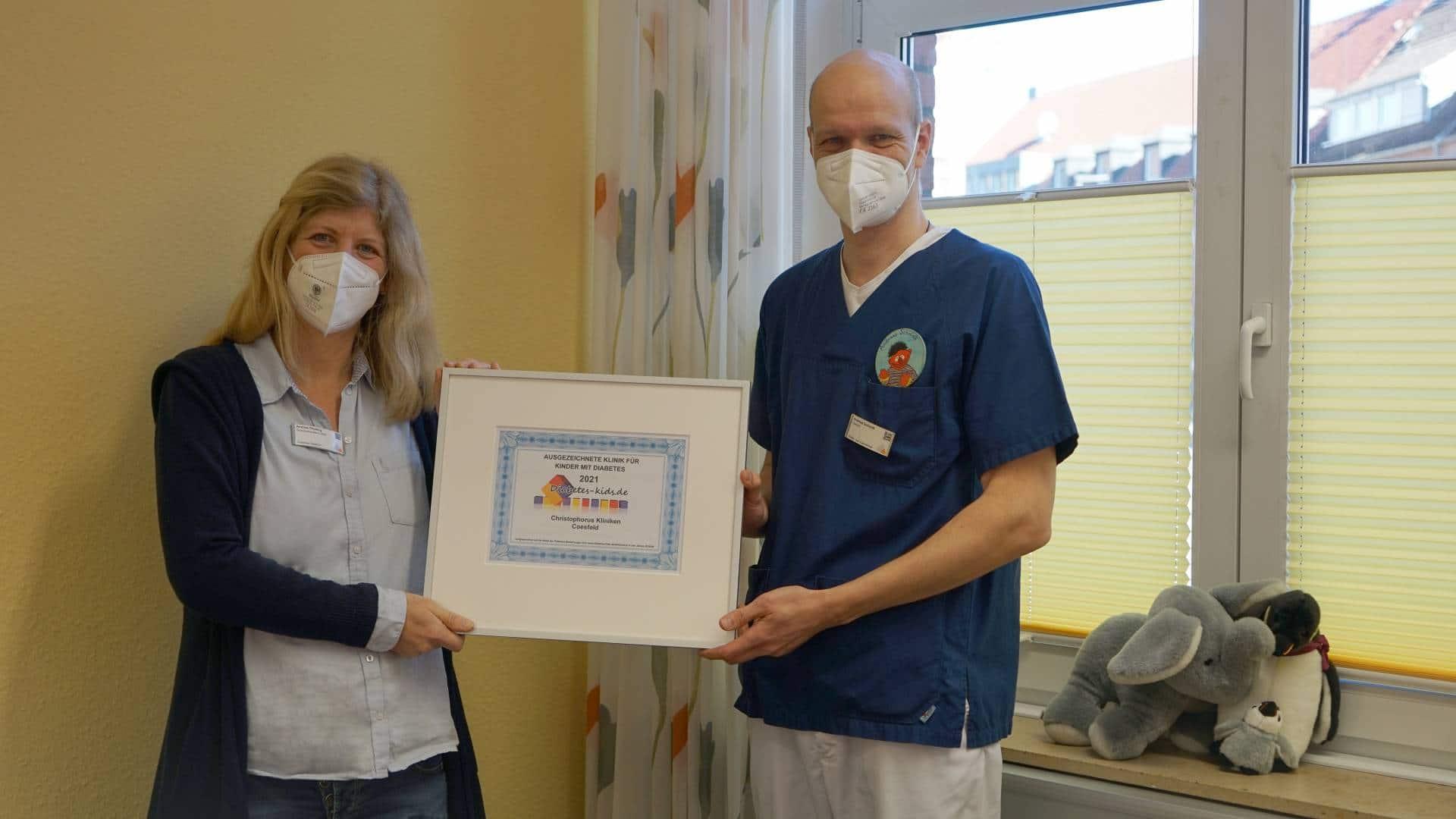 Christophorus Kliniken Diabeteszentrum fuer Kinder Auszeichnung Diabetes-Kids