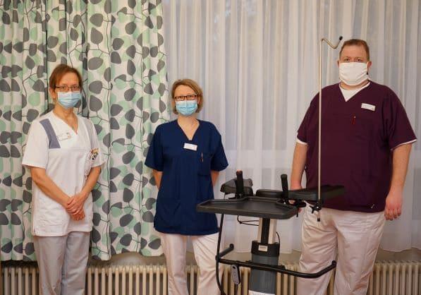Christophorus Kliniken Palliativstation Spenden Gehwagen Vorhaenge neu