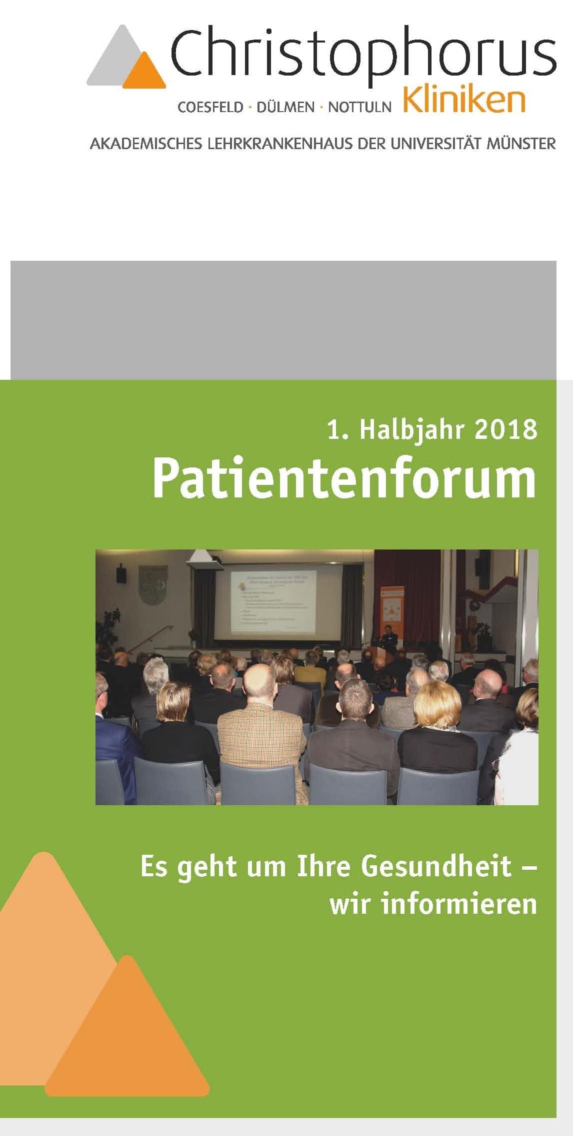 Patientenforum der Christophorus-Kliniken - Der Flyer