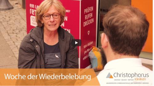 Christophorus Kliniken Woche der Wiederbelebung 2020 Video statt Veranstaltung wegen Corona