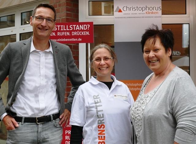 Christophorus-Kliniken Anaesthesieteam gewinnt viele neue Ersthelfer durch Woche der Wiederbelebung