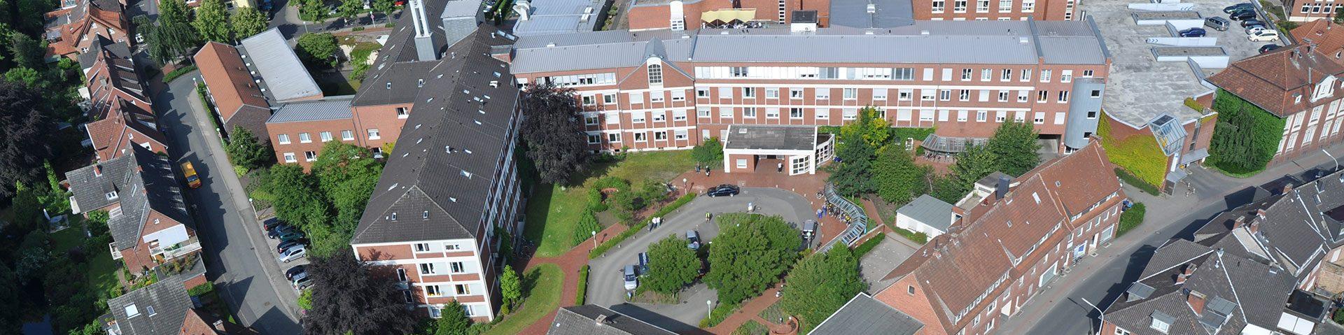 Luftaufnahme der Christophorus Kliniken