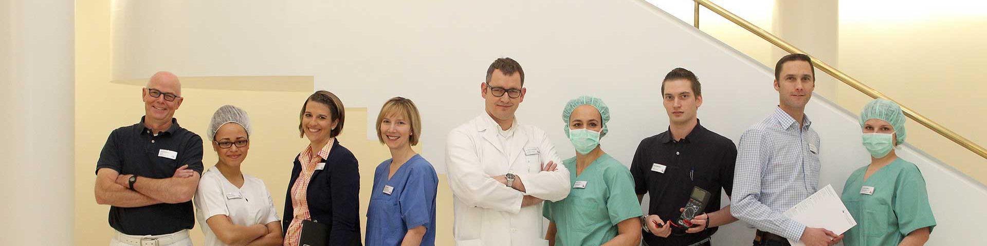 Verschiedene Berufsgruppen in der Christophorus Klinik
